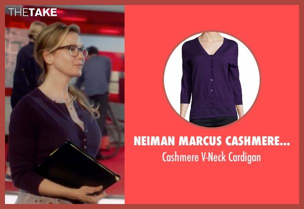 Neiman Marcus Cashmere Collection purple cardigan from Bridget Jones's Baby seen with Renée Zellweger (Bridget Jones)