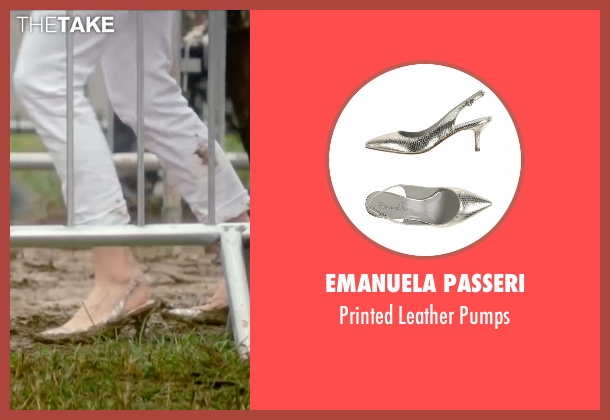 Emanuela Passeri silver pumps from Bridget Jones's Baby seen with Renée Zellweger (Bridget Jones)