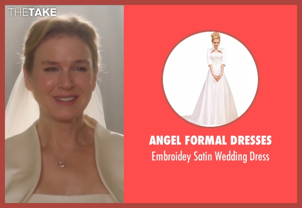 Angel Formal Dresses white dress from Bridget Jones's Baby seen with Renée Zellweger (Bridget Jones)