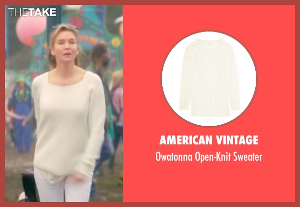 American Vintage white sweater from Bridget Jones's Baby seen with Renée Zellweger (Bridget Jones)