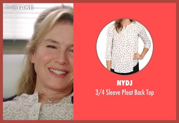 NYDJ white top from Bridget Jones's Baby seen with Renée Zellweger (Bridget Jones)