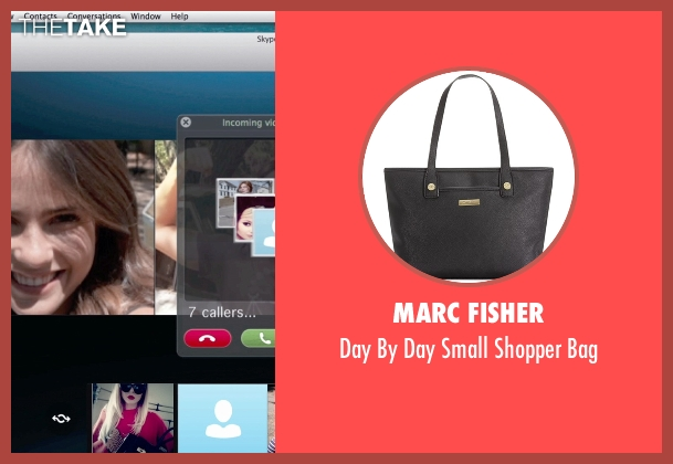 Marc Fisher black bag from Unfriended seen with Renee Olstead (Jess)