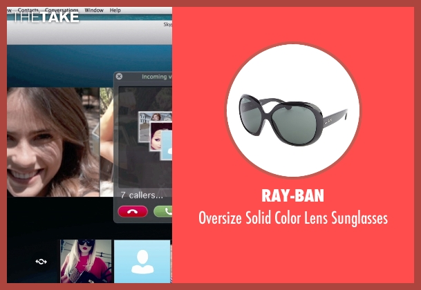 Ray-Ban black sunglasses from Unfriended seen with Renee Olstead (Jess)