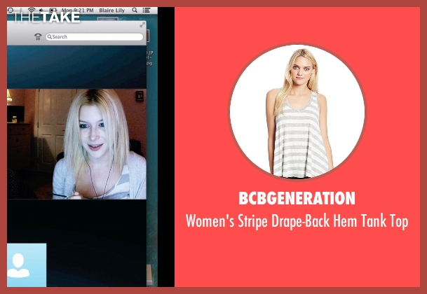 BCBGeneration white top from Unfriended seen with Renee Olstead (Jess)