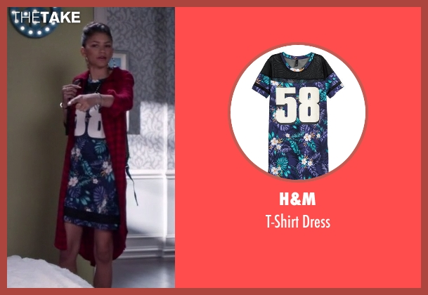 H&M blue dress from Black-ish seen with Resheida (Zendaya)
