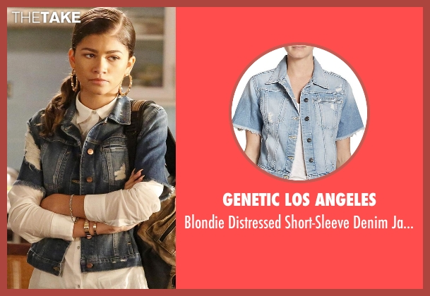 Genetic Los Angeles blue jacket from Black-ish seen with Resheida (Zendaya)