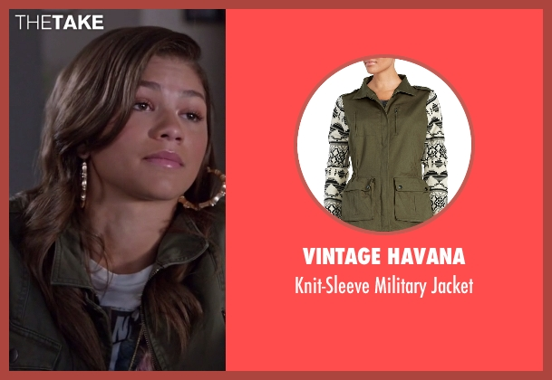 Vintage Havana green jacket from Black-ish seen with Resheida (Zendaya)