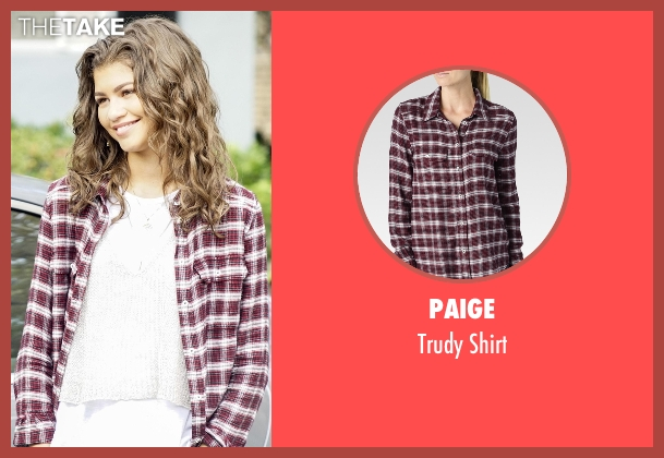 Paige red shirt from Black-ish seen with Resheida (Zendaya)