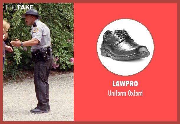LawPro black oxford from Tammy seen with Rey Hernandez (Lake House Cop)
