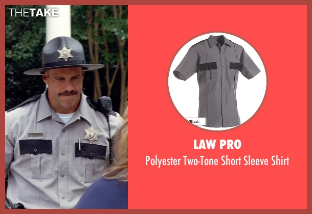 Law Pro gray shirt from Tammy seen with Rey Hernandez (Lake House Cop)