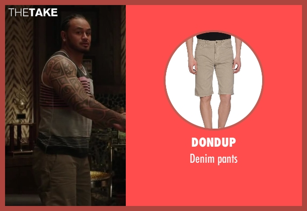 DONDUP brown pants from Million Dollar Arm seen with Rey Maualuga (Popo)
