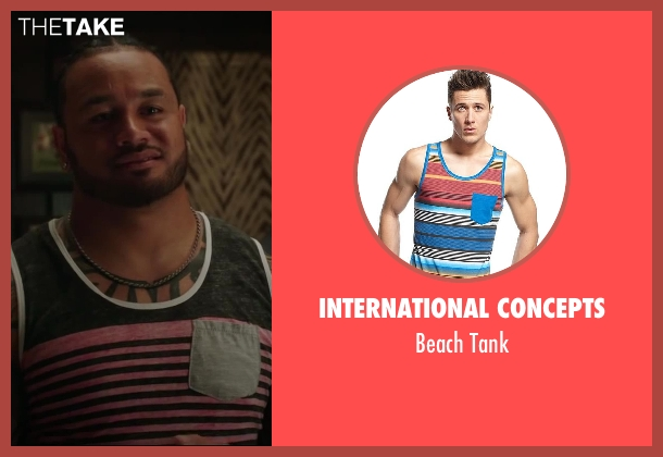 International Concepts tank from Million Dollar Arm seen with Rey Maualuga (Popo)