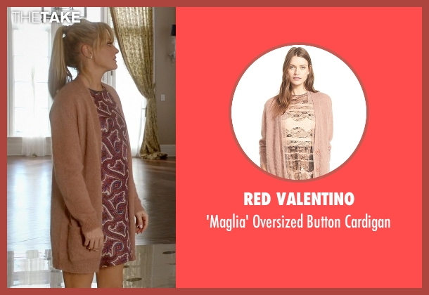Red Valentino beige cardigan from Empire seen with Rhonda Lyon (Kaitlin Doubleday)