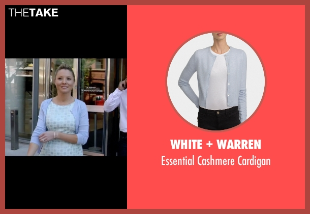 White + Warren blue cardigan from Empire seen with Rhonda Lyon (Kaitlin Doubleday)