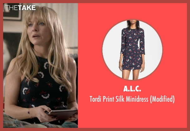A.L.C. blue minidress from Empire seen with Rhonda Lyon (Kaitlin Doubleday)