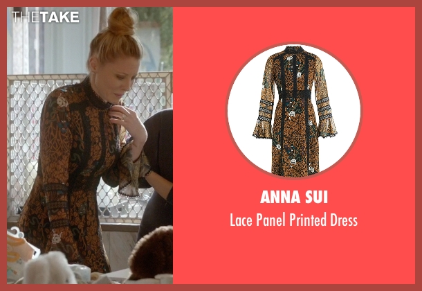 Anna Sui brown dress from Empire seen with Rhonda Lyon (Kaitlin Doubleday)