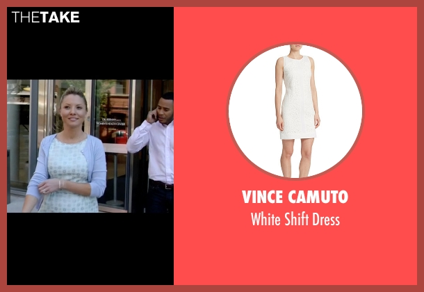 Vince Camuto white dress from Empire seen with Rhonda Lyon (Kaitlin Doubleday)