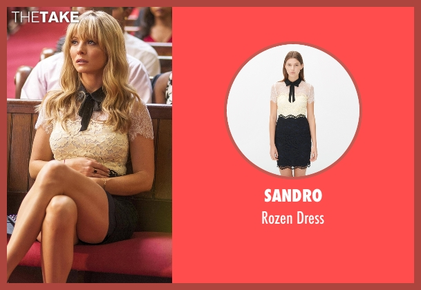 Sandro white dress from Empire seen with Rhonda Lyon (Kaitlin Doubleday)
