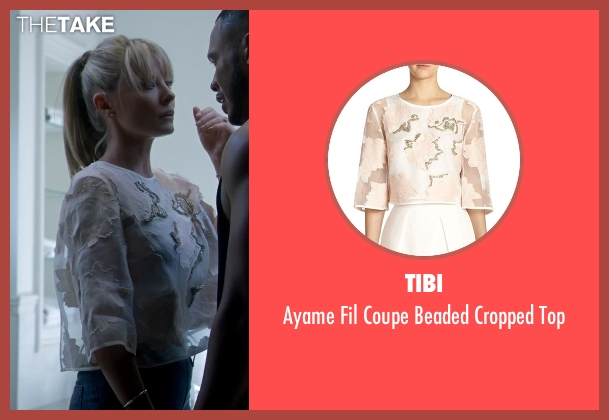 Tibi white top from Empire seen with Rhonda Lyon (Kaitlin Doubleday)