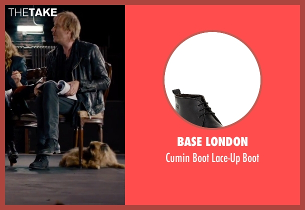 Base London black boot from She's Funny That Way seen with Rhys Ifans (Seth Gilbert)