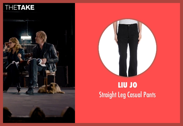 Liu Jo black pants from She's Funny That Way seen with Rhys Ifans (Seth Gilbert)
