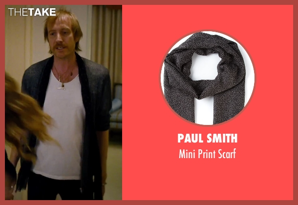 Paul Smith black scarf from She's Funny That Way seen with Rhys Ifans (Seth Gilbert)