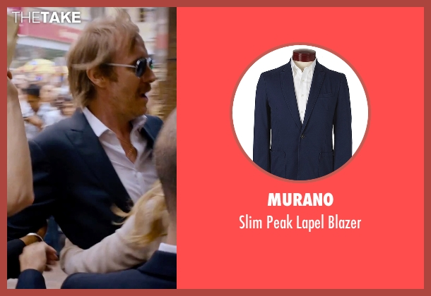 Murano blue blazer from She's Funny That Way seen with Rhys Ifans (Seth Gilbert)