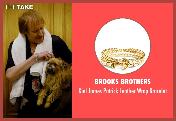Brooks Brothers gold bracelet from She's Funny That Way seen with Rhys Ifans (Seth Gilbert)