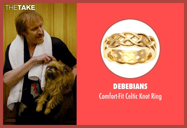DeBebians gold ring from She's Funny That Way seen with Rhys Ifans (Seth Gilbert)