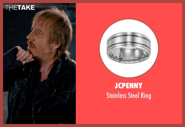 JCPenny silver ring from She's Funny That Way seen with Rhys Ifans (Seth Gilbert)