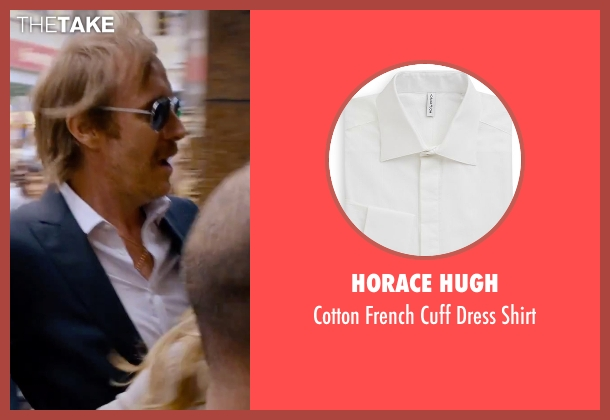 Horace Hugh white shirt from She's Funny That Way seen with Rhys Ifans (Seth Gilbert)
