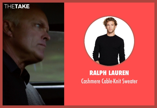 Ralph Lauren black sweater from Need for Speed seen with Rich Rutherford (English Paul)