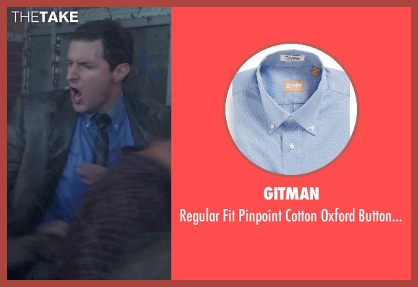 Gitman blue shirt from Into the Storm seen with Richard Armitage (Gary Morris)