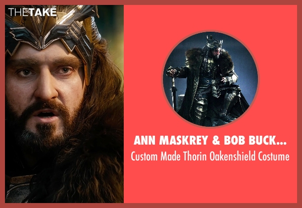 Ann Maskrey & Bob Buck (Costume Designer) costume from The Hobbit: The Battle of The Five Armies seen with Richard Armitage (Thorin Oakenshield)
