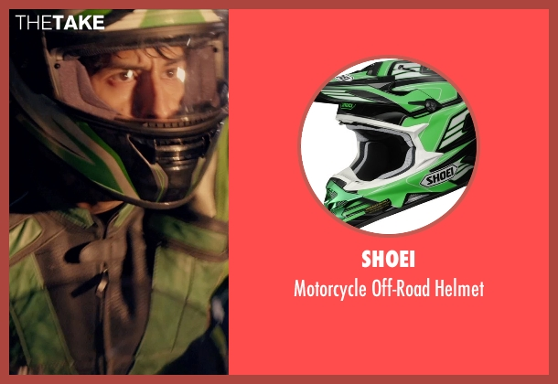 Shoei helmet from The Counselor seen with Richard Cabral (Young Biker)
