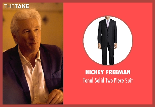Hickey Freeman black suit from The Second Best Exotic Marigold Hotel seen with Richard Gere (Guy Chambers)