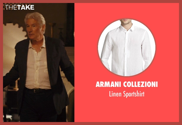 Armani Collezioni white sportshirt from The Second Best Exotic Marigold Hotel seen with Richard Gere (Guy Chambers)