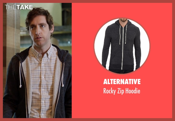 Alternative black hoodie from Silicon Valley seen with Richard Hendricks (Thomas Middleditch)