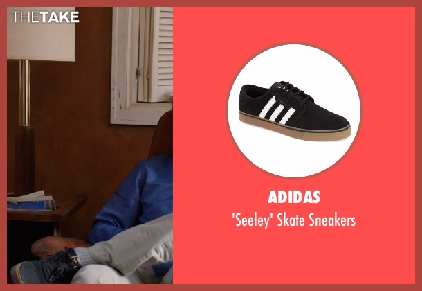 Adidas black sneakers from Silicon Valley seen with Richard Hendricks (Thomas Middleditch)