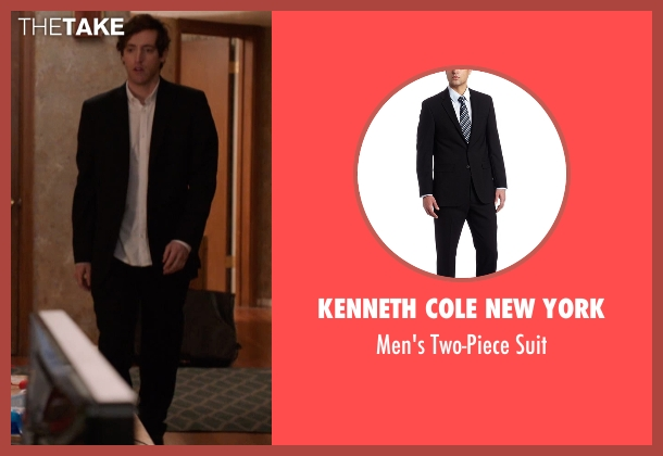 Kenneth Cole New York black suit from Silicon Valley seen with Richard Hendricks (Thomas Middleditch)