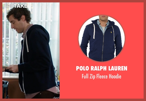 Polo Ralph Lauren blue hoodie from Silicon Valley seen with Richard Hendricks (Thomas Middleditch)