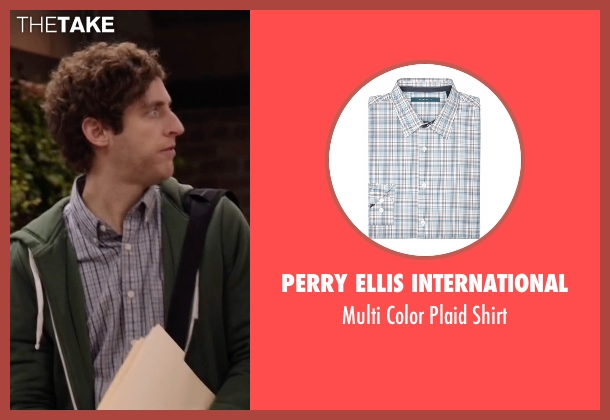 Perry Ellis International blue shirt from Silicon Valley seen with Richard Hendricks (Thomas Middleditch)