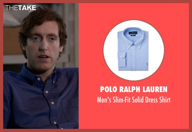Polo Ralph Lauren blue shirt from Silicon Valley seen with Richard Hendricks (Thomas Middleditch)