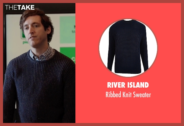 River Island blue sweater from Silicon Valley seen with Richard Hendricks (Thomas Middleditch)