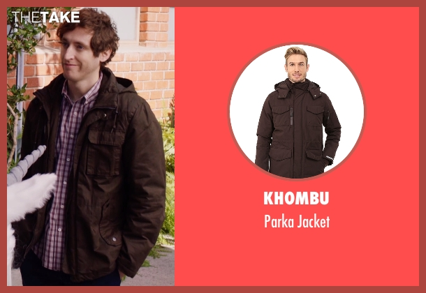 Khombu brown jacket from Silicon Valley seen with Richard Hendricks (Thomas Middleditch)
