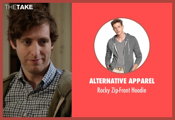 Alternative Apparel  gray hoodie from Silicon Valley seen with Richard Hendricks (Thomas Middleditch)