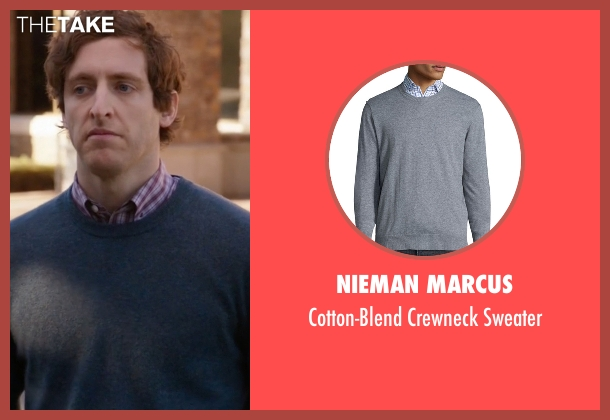 Nieman Marcus gray sweater from Silicon Valley seen with Richard Hendricks (Thomas Middleditch)