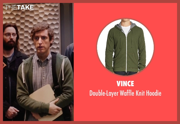 Vince green hoodie from Silicon Valley seen with Richard Hendricks (Thomas Middleditch)