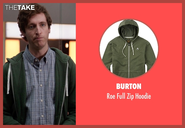 Burton green hoodie from Silicon Valley seen with Richard Hendricks (Thomas Middleditch)