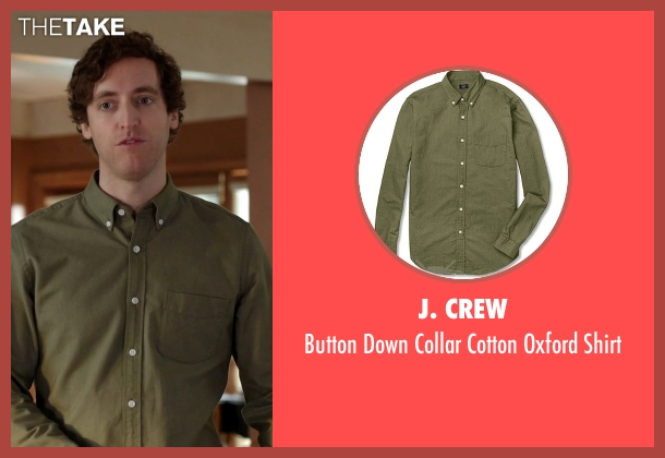 J. Crew  green shirt from Silicon Valley seen with Richard Hendricks (Thomas Middleditch)